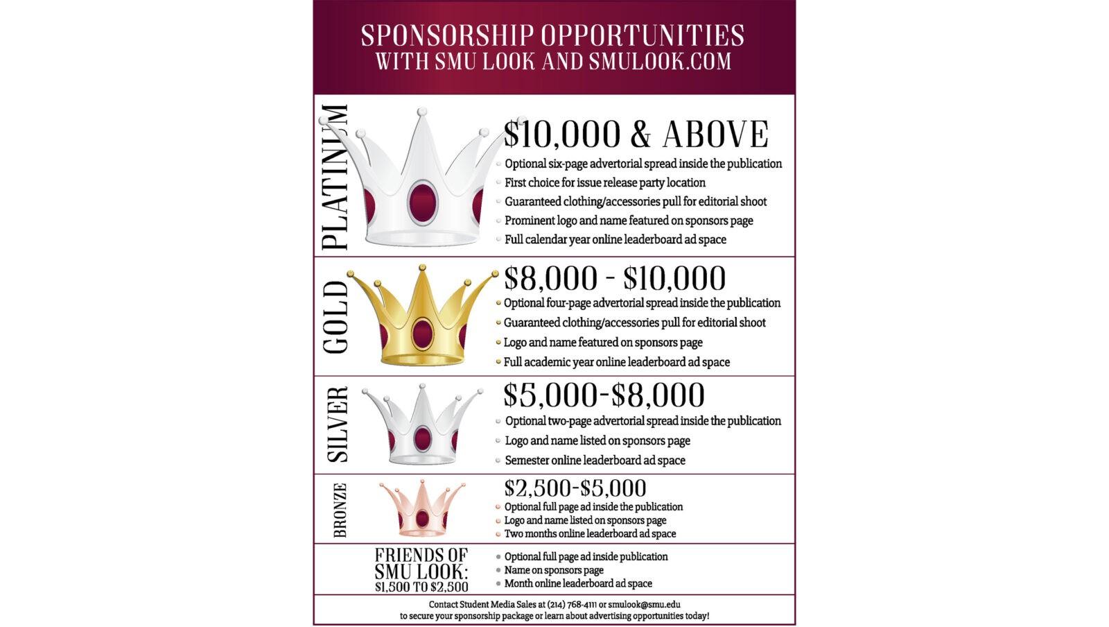 Sponshoship flier