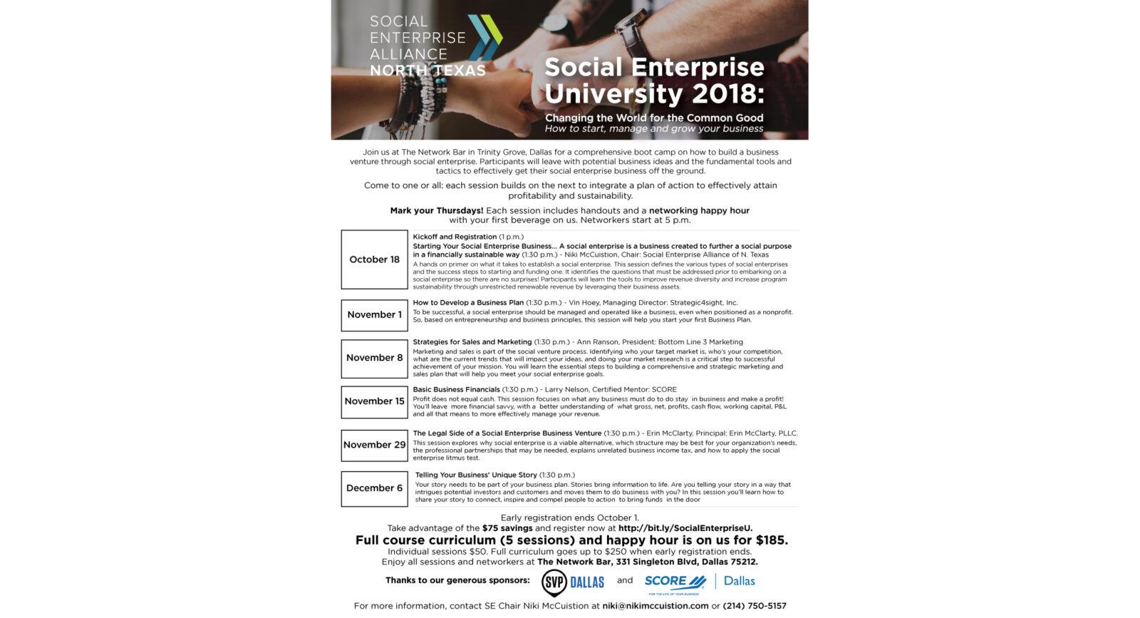 Social Enterprise University flier