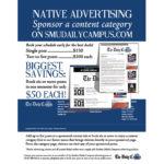 Native advertising flier.