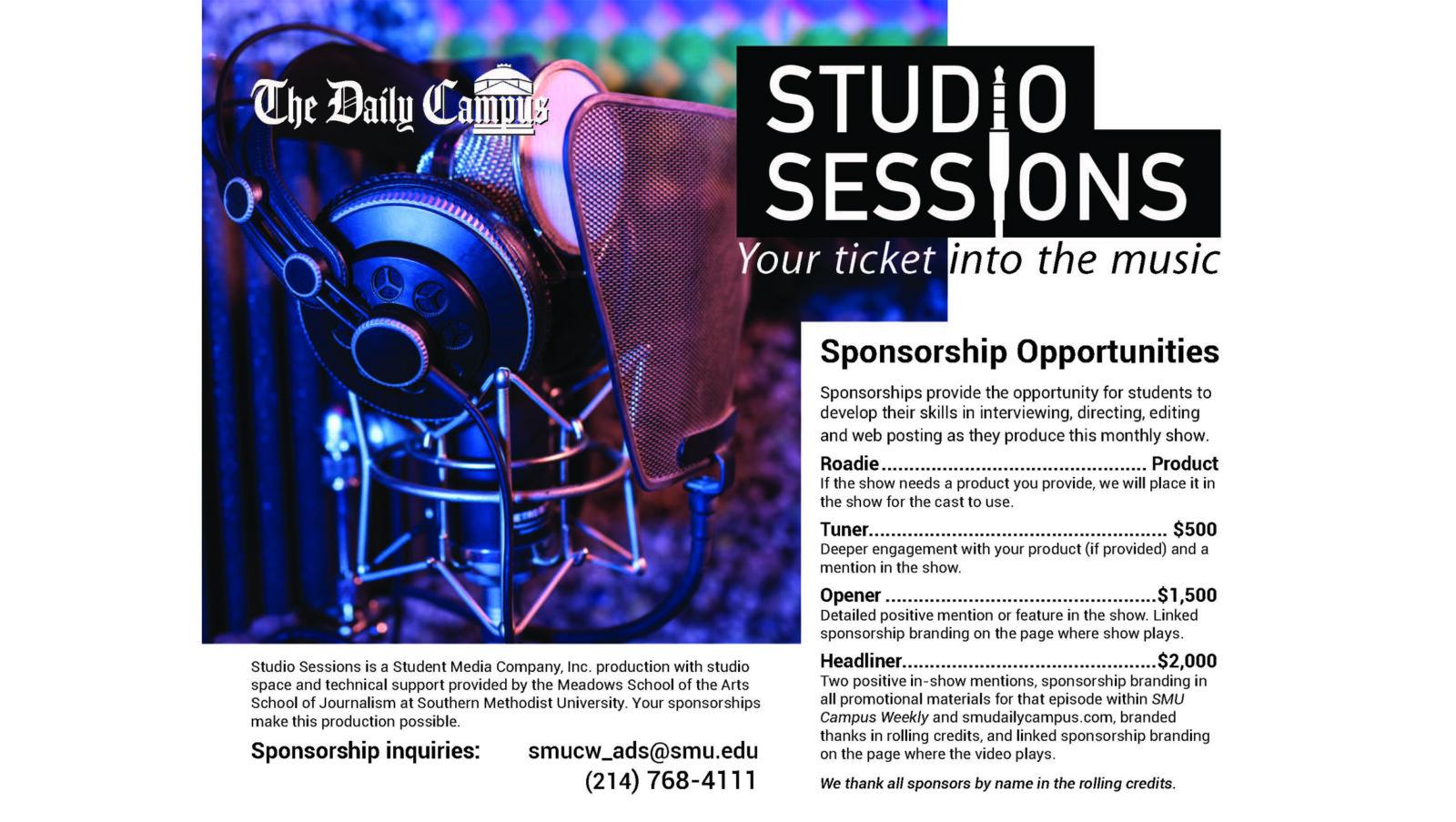 Studio Sessions flier